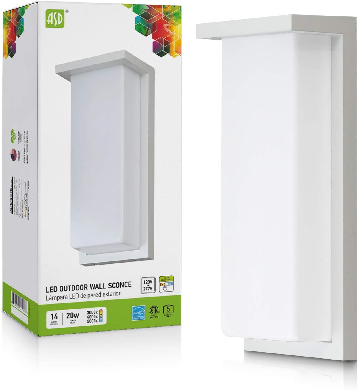 ASD Max 72% OFF LED Outdoor Popular standard Wall Sconce Lighting 20W Po Inch 1100LM Front 14