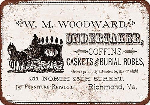 """43LenaJon Metallschild """"Undertaker Coffins Caskets & Beerdigungskleider"""", Vintage-Metallschild, personalisierbar, Sicherheitswarnung, Straßenschild für Küche, Bar, Dekoration, Landhaus, Türschild"""