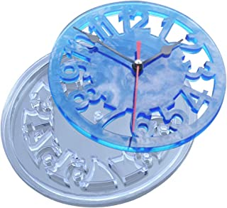 SEVEN HITECH - Kit de resina de silicona para joyería, moldes de resina epoxi para hacer joyas, números romanos, reloj, bricolaje, manualidades CA01S.