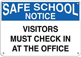 Safe School Notice Visitors Must Check in at The Office Vinyl Sticker Decal 8