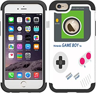 iPhone 6 Case, UrSpeedtekLive iPhone 6s Cases [Shock Absorption] Dual Layer Heavy Duty Protective Silicone Plastic Cover Case for iPhone 6/6s - Gameboy