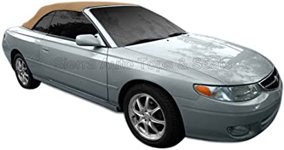 Sierra Auto Tops Convertible Soft Top Replacement, compatible with Toyota Solara 2000-2003, w/Heated Glass Window, Stayfast Canvas, Beige