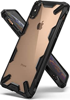 """Ringke Case for iPhone XS Max (6.5"""" Inches) Fusion-X Ergonomic Transparent Shock Absorption TPU Bumper Mobile Cover - Black"""