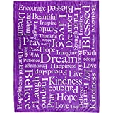Inspiring Messages (Purple) Super Plush Blanket - 50x60 Soft Throw Blanket - Perfect for Cuddle Season & Holiday Gifts!