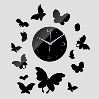 ZHEBEI Mirror Wall Clock Clock Acrylic Living Room Design Quartz Watch Sticker