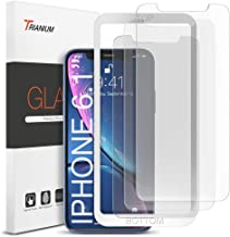 "Trianium (3 Packs) Screen Protector Designed for Apple iPhone 11 and iPhone XR (6.1"" 2018) Premium HD Clarity 0.25mm Tempered Glass Screen Protector with Easy Installation Alignment Case (3-Pack)"