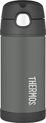 Thermos 4030.401.035Insulated Bottle,355ml, Made of Stainless Steel, Blue, Dimensions: 7.6 x 17.7 cm, Stainless Steel, Grey, 7,6 x 7,6 x 17,7 cm