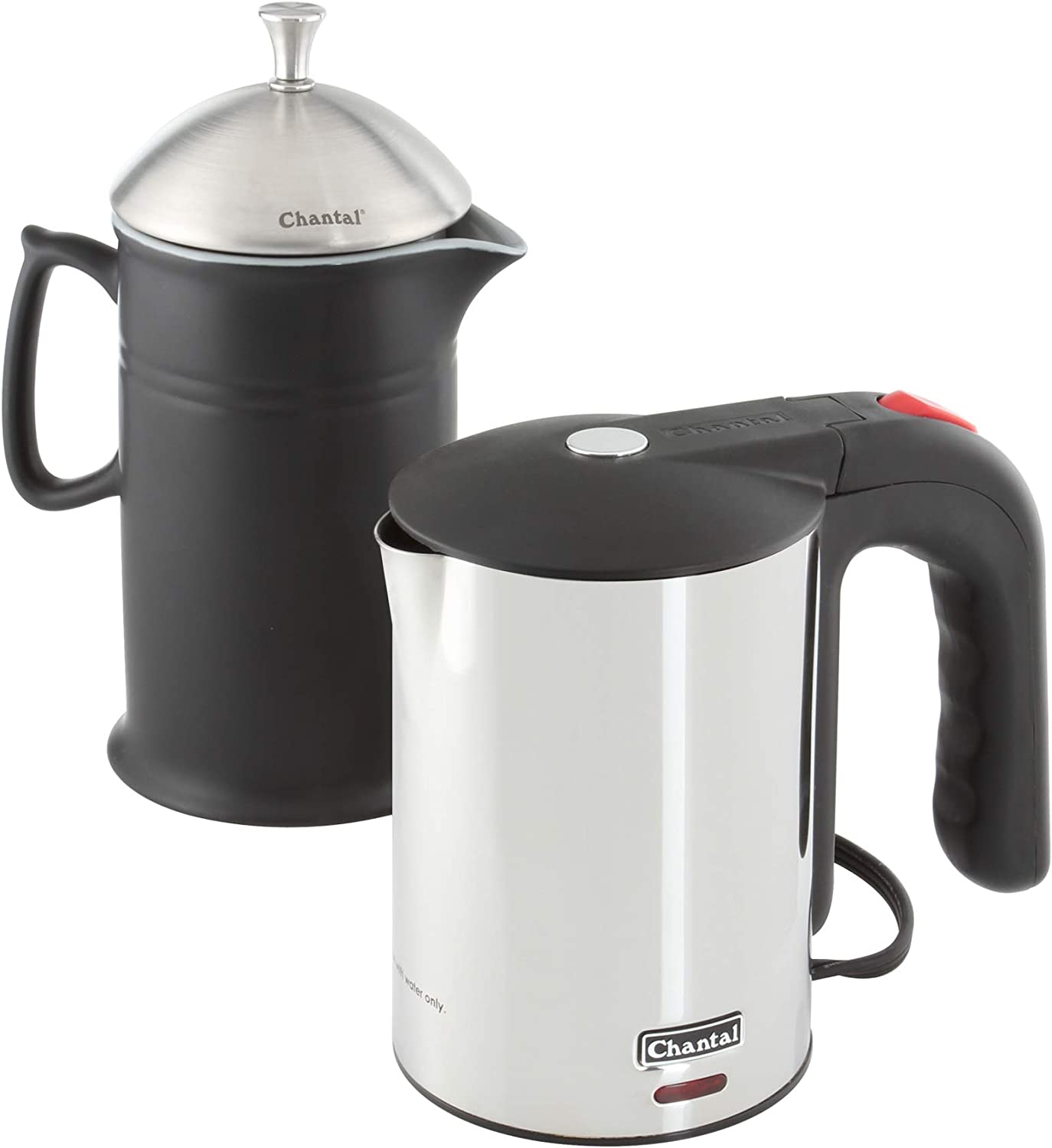 Chantal 2-pc Easy French Max 74% OFF Press Set Kettle Electric Black Matte 25% OFF