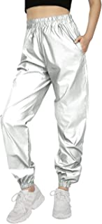HDE Reflective Joggers Pants for Women High Visibility Jogger Windbreaker Pant