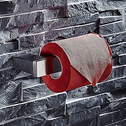 Soporte de rollo de inodoro 304 Soporte de papel higiénico de acero inoxidable Cepillado Montado en pared Anticorrosión Baño Rollo de lavabo Dispensador de suspensión de tejido Soporte de papel higién