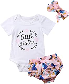 9b6cd97747e Baby Girls Jumpsuit Newborn Infant Kids Floral Clothes Shorts Summer Romper  Bodysuit Sundress Outfits