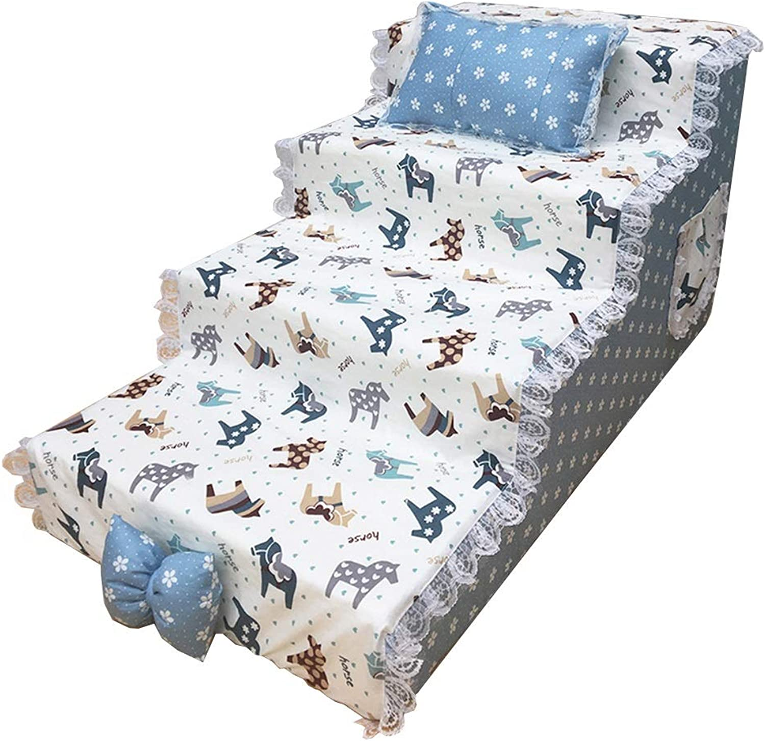 Pet stairs Dog Steps For High Bed, Portable 4 Steps Ladder For Cats Animals Doggy Ladder For Tall Couch Bed (Size   80  40  50cm)