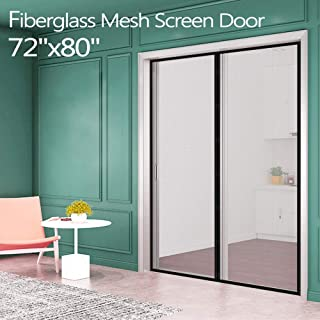 Fiberglass Magnetic Screen Mesh for French Door [Upgraded Vesion 72