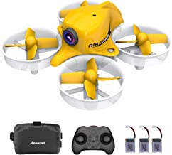 $79 » Mini FPV Drone Rc Nano Quadcopter 2.4ghz 6 Axis Gyro Drones with HD Camera for Kids and Beginners, Pocket Helicopter with Altitude Hold, Headless Mode, 3D Flips, 3 Batteries, 5.8G 8CH VR Goggles