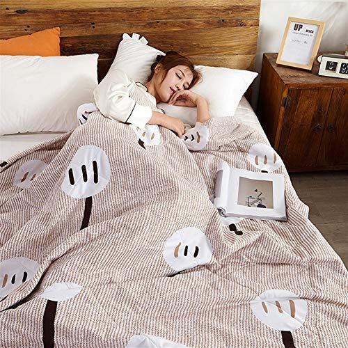 Funda nórdica doble y King Quilt Consolador antibacteriano de microfibra ligera Beding 100 % algodón, lanzamientos para sofá cama, manta Throw 030 (color: B, tamaño individual)