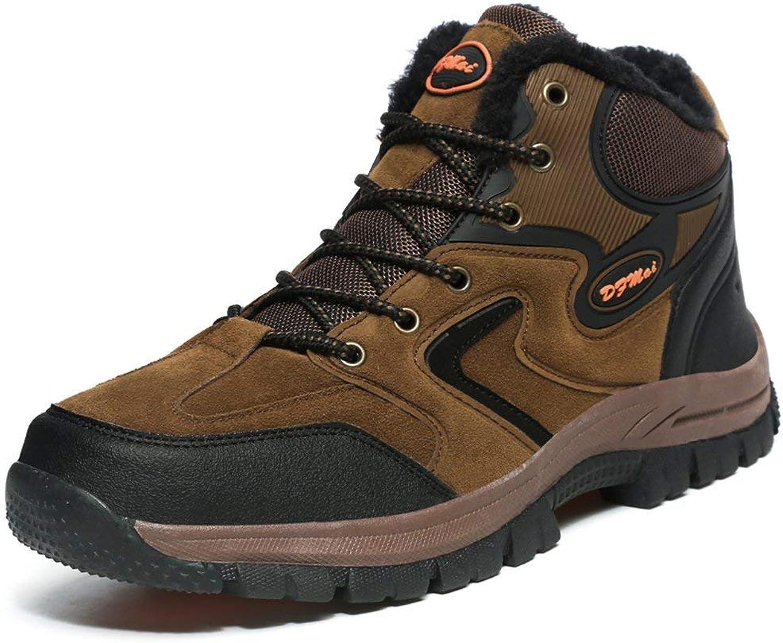 Hiking Hiking Hiking stövlar Treking skor Man Non Slip Fur Lined mocka Winter Warm klättringaa Sneeaker  leverans kvalitet produkt