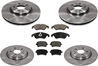 100% New Front Rear Brake Rotors & Brake Pads for Audi A4 & A4 Quattro 2.0 12-16