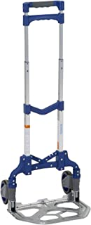 COSCO Compact Aluminum Folding Hand Truck (Blue, 150lb weight capacity, 1 pack)