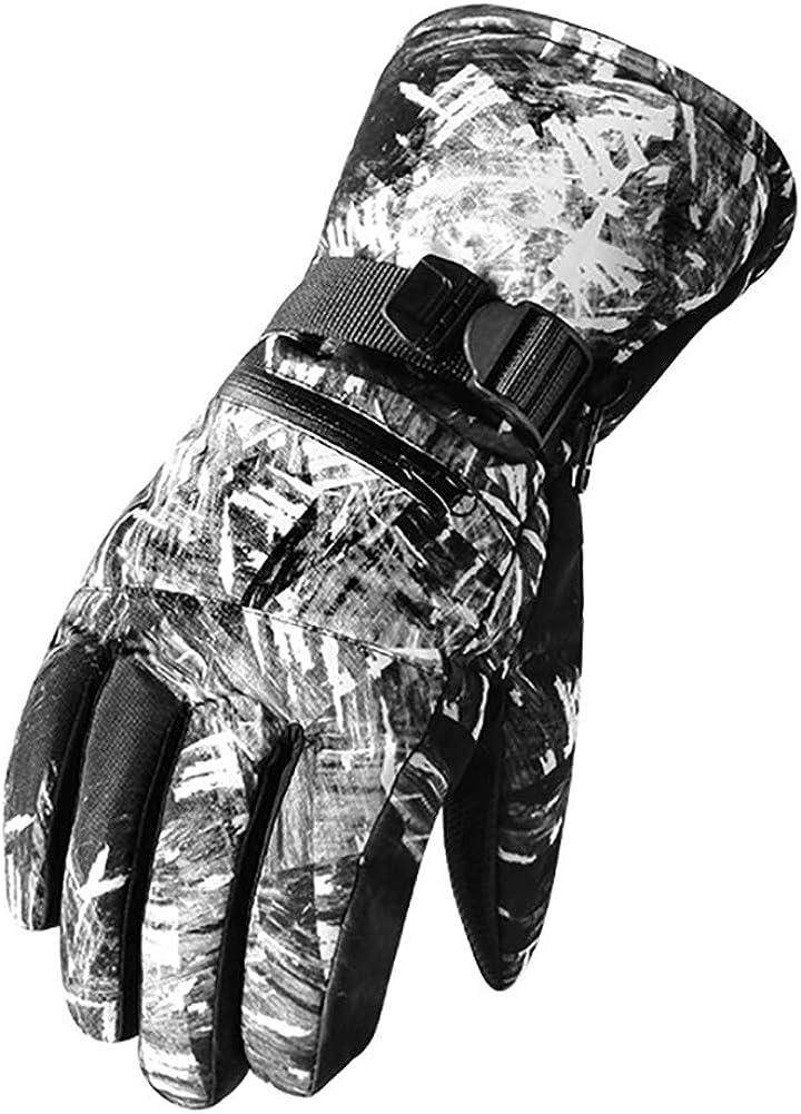 Waterproof Mens Ski Gloves Winter Warm 3M Snowboard Snowmobile Cold Weather Gloves