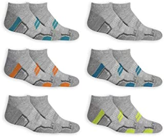 Fruit Of The Loom Boys 6 Pack Active No Show Socks