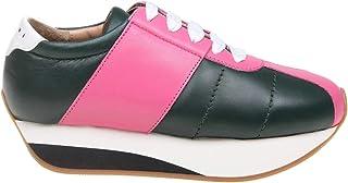 Marni Women's SNZW003404LA710ZL860 Multicolor Leather Sneakers