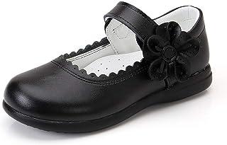 JOEupin Chaussures plates Mary Jane en cuir pour fille (bébé/petit enfant/grand enfant)