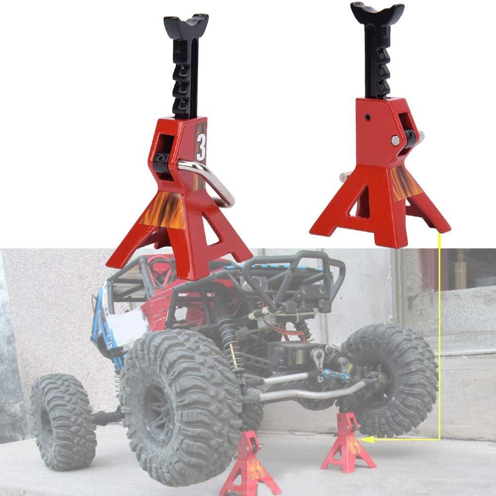 Gato de elevación de simulación de 3 toneladas, 2 Piezas de Metal Accesorios de Gato de elevación de 3 toneladas para el Modelo de Coche de Oruga axial SCX10 RC(Rojo)