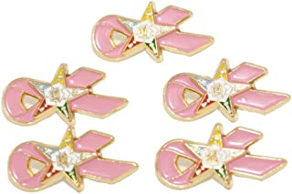 Breast Cancer Awareness, Order of the Eastern Star, 5 Pink Ribbons, Pewter Lapel Pin