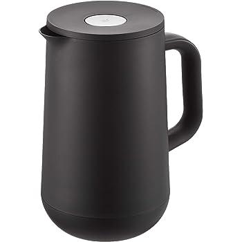 WMF Impulse Thermoskanne 1l, Isolierkanne für Tee oder Kaffee, Druckverschluss, hält Getränke 24h kalt & warm, schwarz