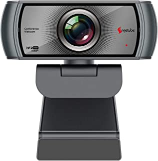 1080P Webcam 60fps with Microphone Wide Angle Noise Reduction HD USB Web Camera for Zoom Skype Meeting YouTube FaceTime Ha...