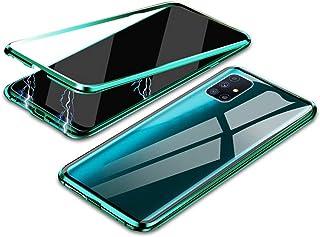 جراب لهاتف Galaxy M51، 360 درجة هيكل معدني ممتص مغناطيسي بالكامل 9H زجاج مقسى [أمامي وخلفي] غطاء حماية كامل للشاشة لهاتف S...