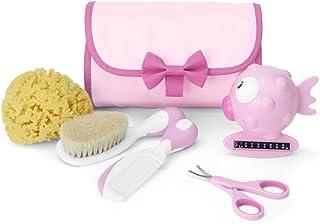 Chicco Mini Beauty - Set de higiene del bebé 5 en 1, color rosa
