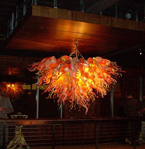 SHIJING AC110V-220V Murano-glas kroonluchter Hotel Decor Turks stijl vintage glas kristal kroonluchter licht