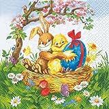 20 Servietten Easter Friends – Osterfreunde/Ostern 33x33cm