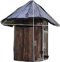 BGYX Wooden Mailbox Wooden Mail Organizer Rustic Country Mail Sorter Mushroom Design Solid Wood Waterproof Creative Vintage Villa Door