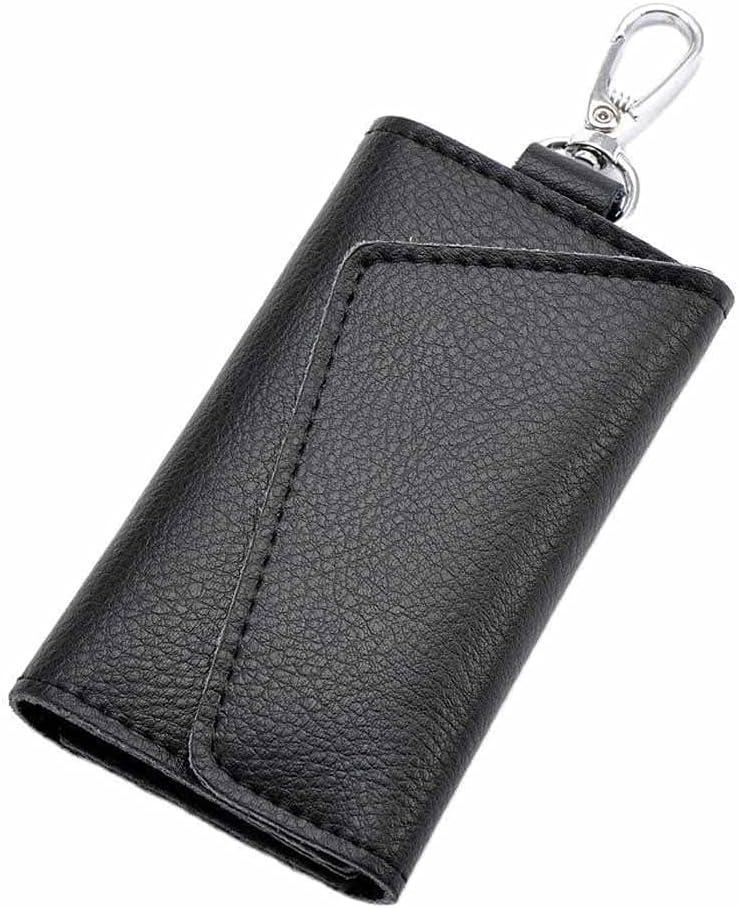 JYDQM Genuine Leather Keychain Men Women Key Holder Organizer Pouch Cow Split Car Key Bag Wallet Housekeeper Key Case Mini Card Bag