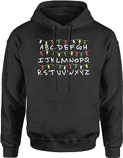 Alphabet Stranger Christmas LightsUnisex Adult Hoodie
