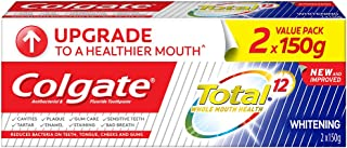 Colgate Total Toothpaste, Professional Whitening, 150g (Pack of 2)