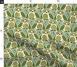 Spoonflower Stoff – Eulen Avocado Vogel Eule Kitsch