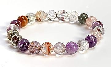 8 mm AAA Grade Super Sacred Seven Stone Mala Beads Bracelet || Melody Stone Healing Bracelet || Energized Genuine 8 mm Super Seven Mala Beads || Crystal Healing Therapy || Stretch Bracelet