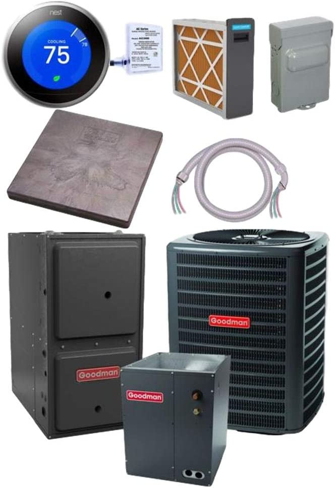 New Max 53% OFF sales Goodman 4 TON 15 SEER bundle GSX16S481 CAPT4961 Air Conditioner