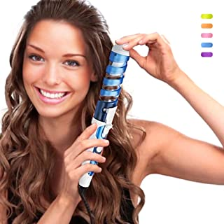 SexyBeauty Professional Portable Hair Salon Spiral Curl Ceramic Curling Iron Hair Curler Waver Maker (blue)