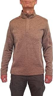 Greg Norman 1/4 Button Fleece Pullover Sweater