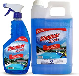 GHADEER GLASS CLEANER, LIQUID, 4L + 650 ML