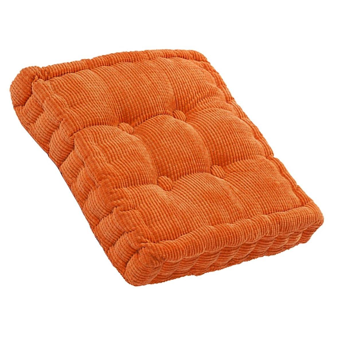 彼自身メタン研磨剤柔らかい 座布団 ソファ オフィス 正方形 椅子 居心地良い クッション パッド 全8色 - オレンジ