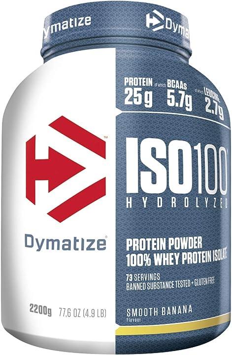 Proteine gusto banana - dymatize iso 100 -  2,2kg - per prima e dopo l`allenamento - 2200 g 25190501