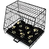 "Easipet Sloping Dog Cage with Bed Small 24"" Folding Car Puppy Pet Travel Crate"