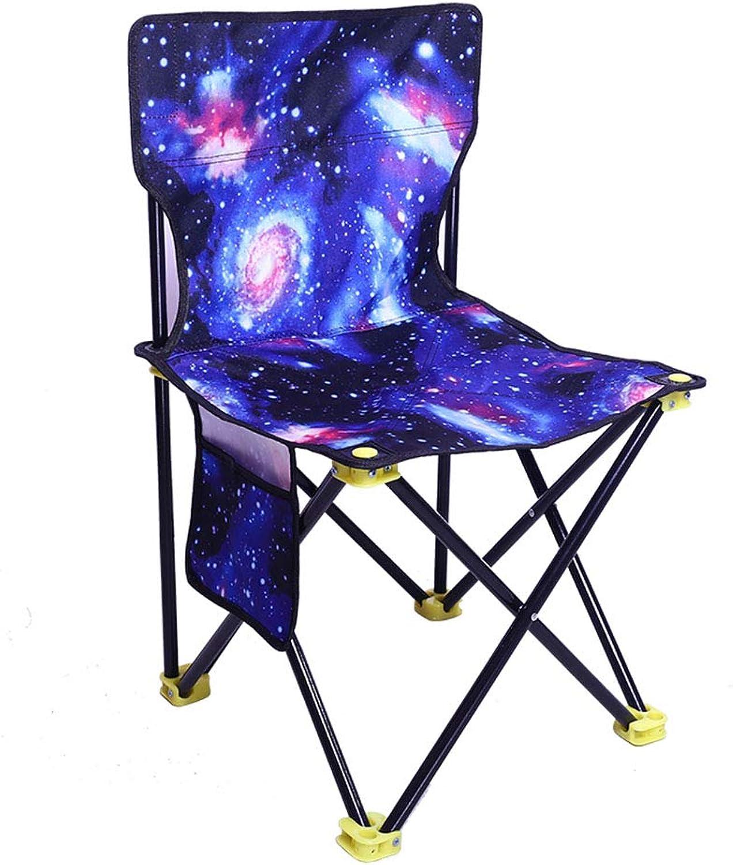 Tingting Esszimmerstühle Küchenstühle Stühle Falte im Freien Sternenhimmel Tinte Tarnung Tarnung Tarnung Tragbare Kunstskizze Angeln Zeichnung Rückenlehne (Farbe   Blau, größe   44) B07PJ5N9YD   Bevorzugtes Material  aa9132
