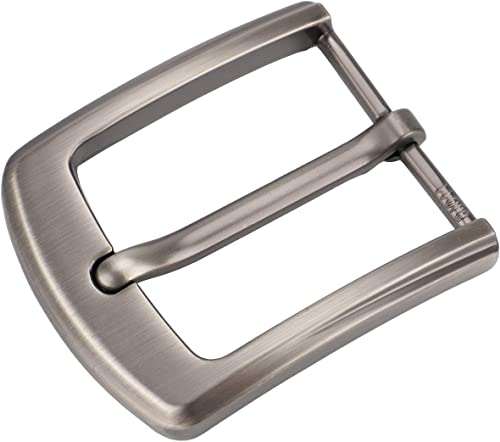 McFanBe 1.5 Inches (38-40 mm) Belt Buckle Single Prong Square Replacement Buckle for Men Women Belt