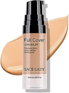 SACE LADY Under Eye Concealer Makeup, Full Coverage Anti-aging Long Lasting Concealer Correctors for Dark Circles Spots Face Make Up